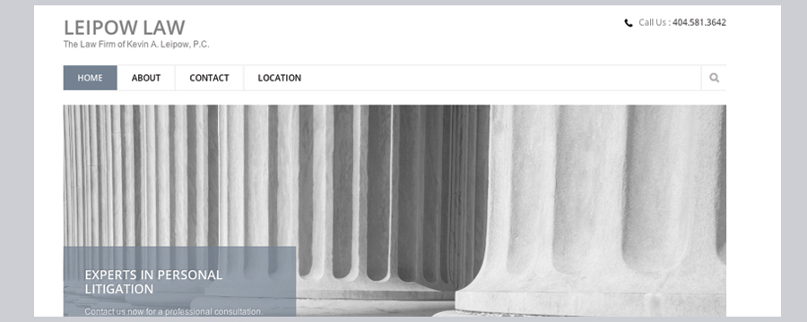 Custom design development and for Fish law firm